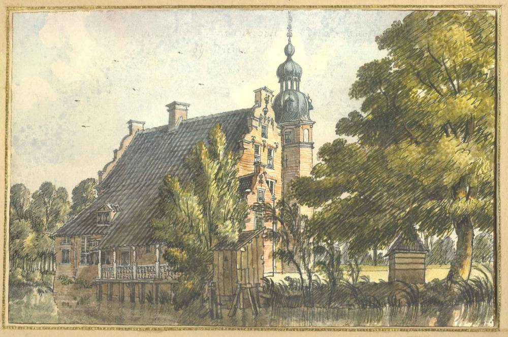 Manhorst in Didam. Tekening Jan de Beijer, 1742